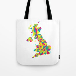 Abstract United Kingdom Bright Earth Tote Bag