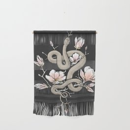 Magnolia and Serpent Wall Hanging