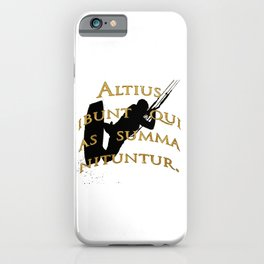 They Will Rise Highest Who Strive High Latin Quote iPhone Case