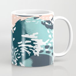 August - Abstract modern painting in bold colors for trendy feminine style Coffee Mug