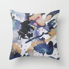 #1 Blue Throw Pillow