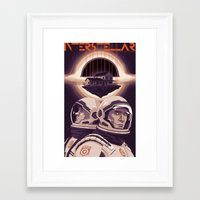interstellar Framed Art Prints featuring INTERSTELLAR by Mike Wrobel