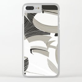 White forest Clear iPhone Case