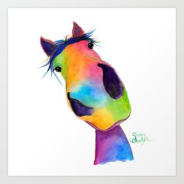 Happy Horse ' HaPPY G & T ' by SHiRLeY MacArTHuR Art Print