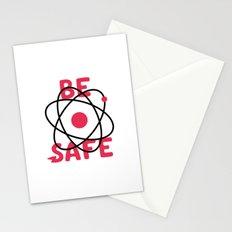Be Safe Atomic Symbol Stationery Cards