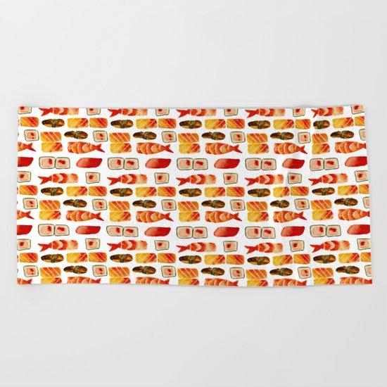 Sushi vibes Beach Towel