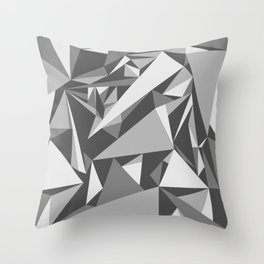 Black and White Triangle Throw Pillow