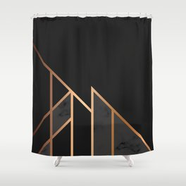 Black & Gold 035 Shower Curtain