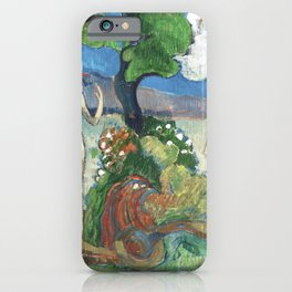 Paradise Lost by Paul Gauguin iPhone Case