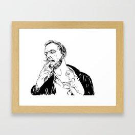 justin vernon Framed Art Print