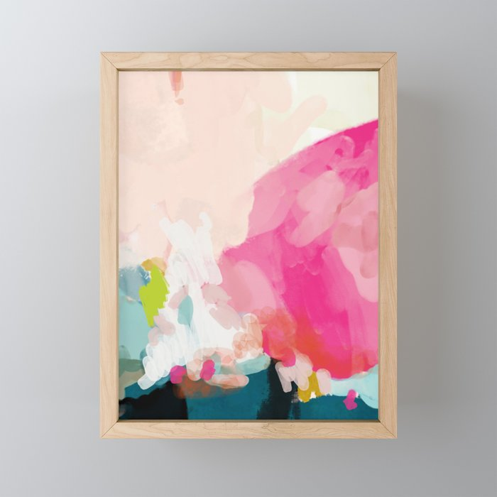 pink sky Framed Mini Art Print