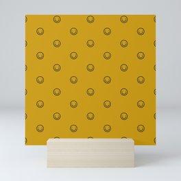 Smile Pattern Mini Art Print