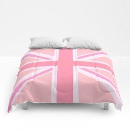 Pink Union Jack/Flag Design Comforters