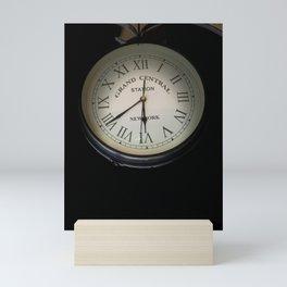 Grand central clock picture Mini Art Print