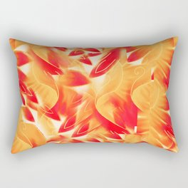 Blushing Petal Wings Rectangular Pillow