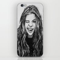 selena gomez iPhone & iPod Skins featuring Hello Selena! by vooce & kat