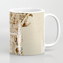 Milwaukee Wisconsin City Map Coffee Mug