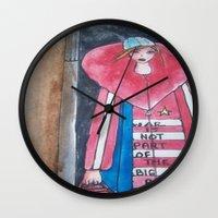 war Wall Clocks featuring war by helendeer