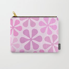 Abstract Flowers in Pinks Carry-All Pouch