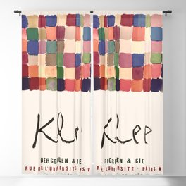 Paul Klee - Vintage French exhibition poster 1955 Blackout Curtain
