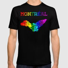 Montréal MEDIUM Black Mens Fitted Tee