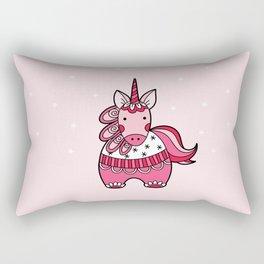 Pink Unicorn Rectangular Pillow