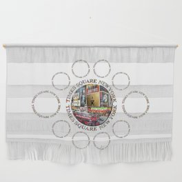 Times Square New York City (badge emblem on white) Wall Hanging