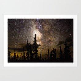 Mountain Milky Way Art Print