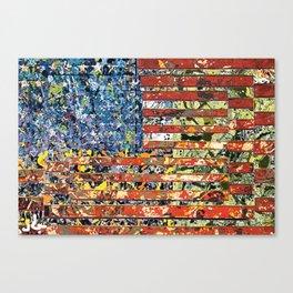 JASPER JONES POLLOCK FLAG Canvas Print