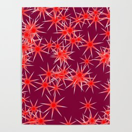 colorful stars Poster