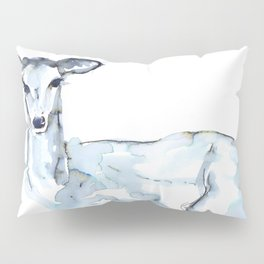 Deer Watercolor Sketch Pillow Sham