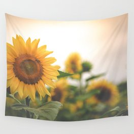 After the Rain - Sunflower Field II Wall Tapestry