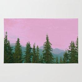 cotton candy mountains Rug