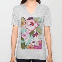 Dufy floral  Unisex V-Neck