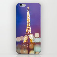 Eiffel tower by night iPhone & iPod Skin