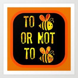 Bee Question Art Print