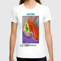 sister T-shirts featuring SISTER by KEVIN CURTIS BARR'S ART OF FAMOUS FACES