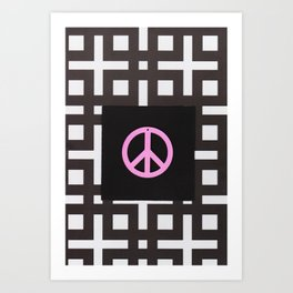 black and white symbol Art Print