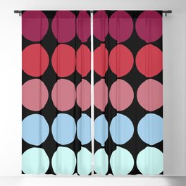 Multicolor Classic Freehand Retro Dots Blackout Curtain