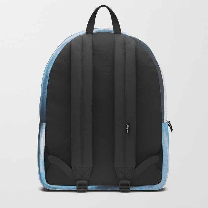 Blue Ice Watercolor Backpack