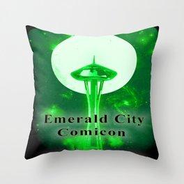 EMERALD CITY COMICON Throw Pillow