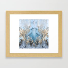GOLD CLOUDS MARBLE Framed Art Print