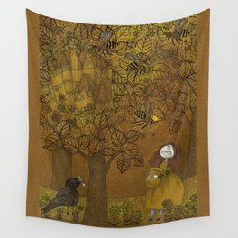 The Queen of Bees and the Princess who loved Honey Wall Tapestry