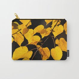 Autumn Foliage Yellow Leaves #decor #buyart #society6 Carry-All Pouch
