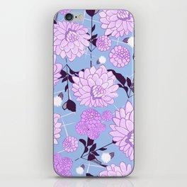Soft calming lilac spring florals design iPhone Skin