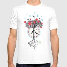 Árbol - 木 - Tree Mens Fitted Tee MEDIUM White