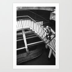 winding staircase Art Print