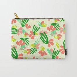 Henri's Garden in lemongrass // tropical flora pattern Carry-All Pouch