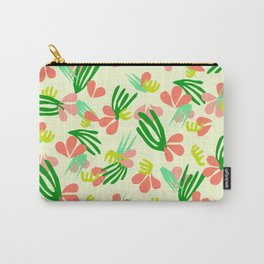 Henri's Garden in lemongrass // tropical flora pattern Carry-All Pouch