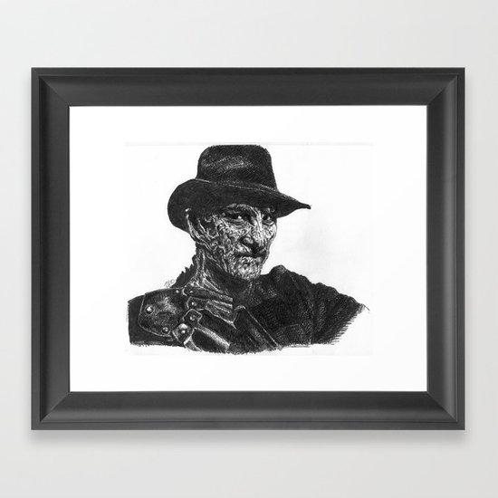 Freddy Krueger Framed Art Print